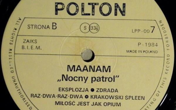 """Piosenka prawdę ci powie – Maanam """"Krakowski Spleen"""""""