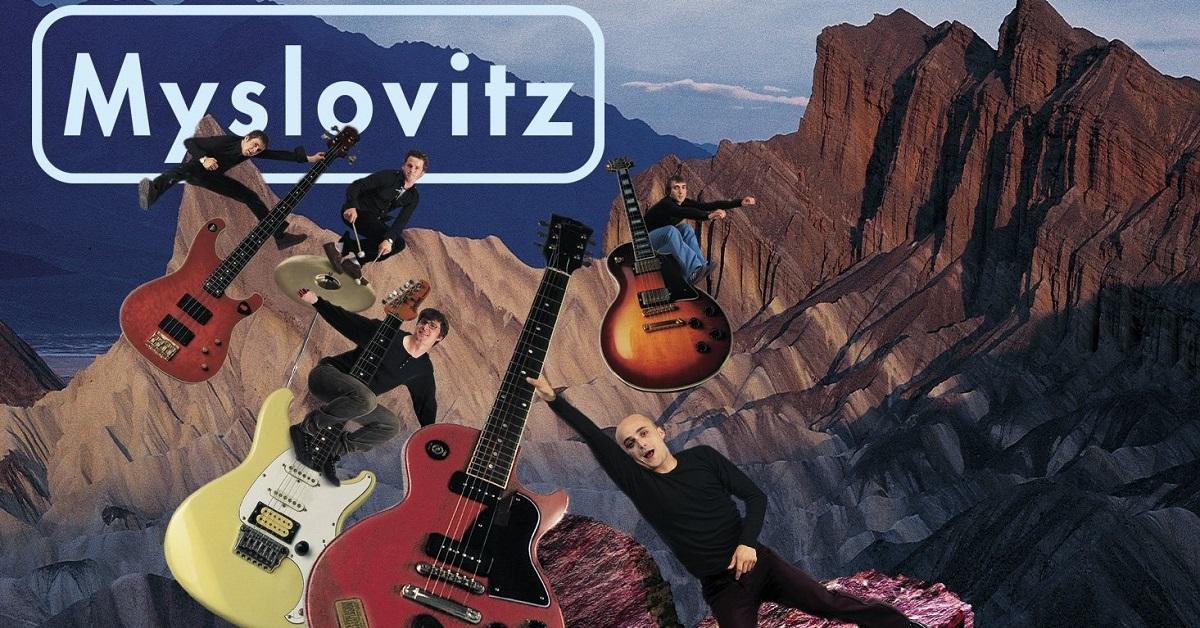 Okładka albumu przedstawia członków zespołu – pięciu mężczyzn, którzy lecą nad górami i trzymają się swoich instrumentów.