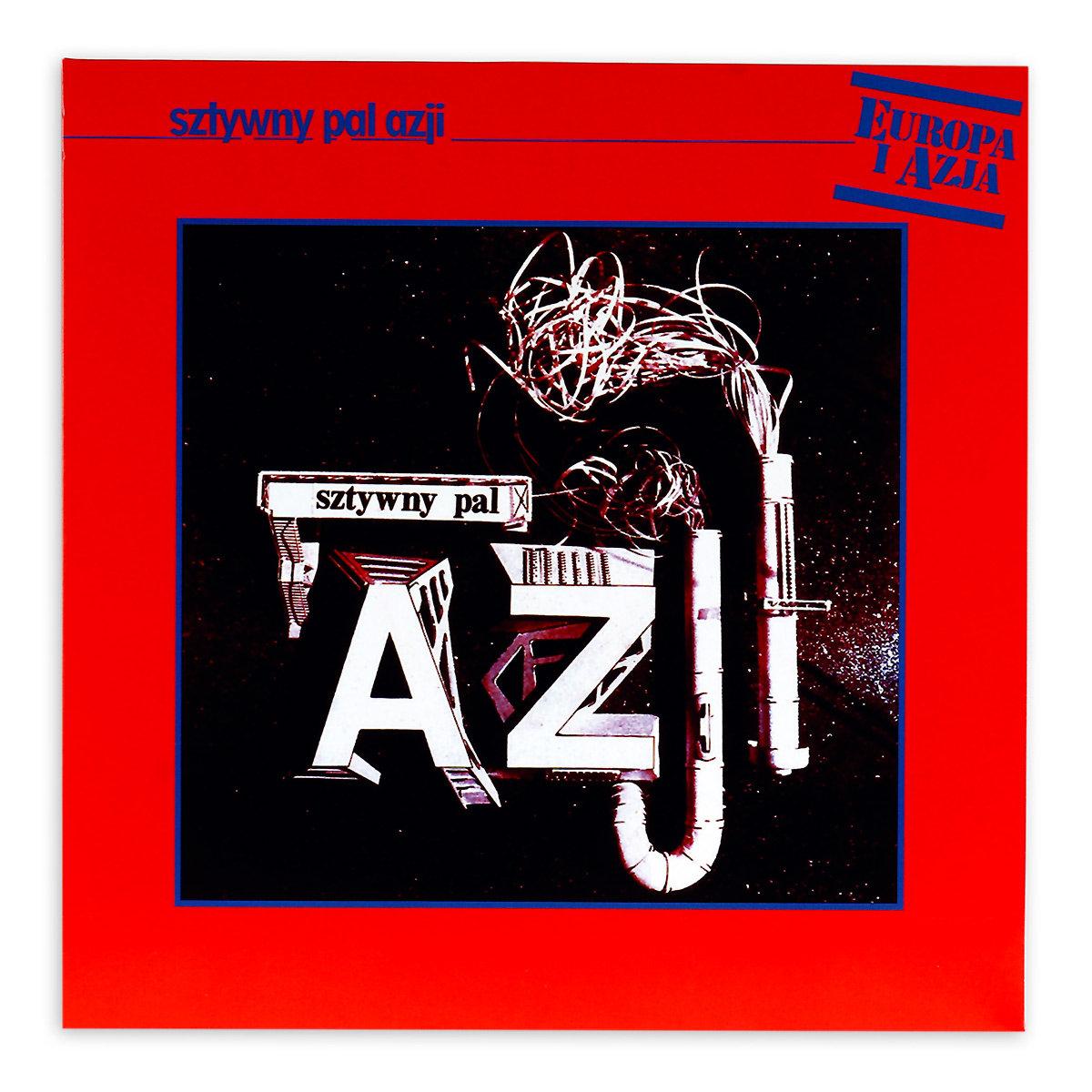 Okładka albumu przedstawia grafikę w industrialnym stylu. Na ciemnym tle znajduje się napis: Sztywny Pal Azji, zbudowany z metalowych belek i kominów.