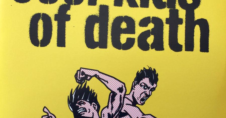 Okładka albumu w komiksowym stylu przedstawia dwóch mężczyzn w trakcie bójki. Nad nimi znajduje się nazwa zespołu, namalowana czarnym sprayem od szablonu.