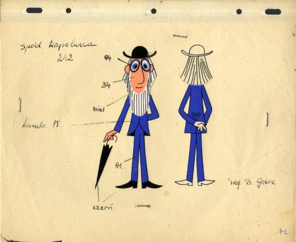 Narysowany mężczyzna na kartce, od przodu i od tyłu. Od sylwetki od przodu odchodzą linie z opisem barw.
