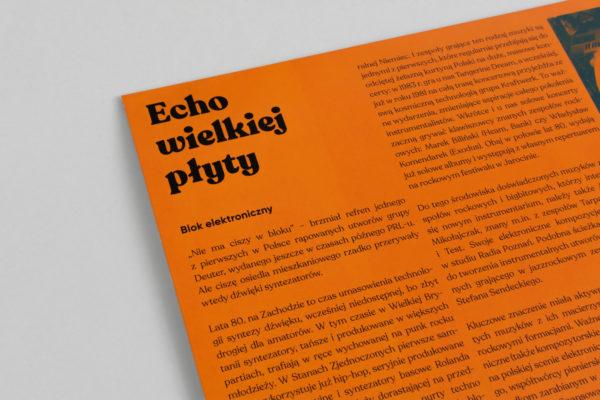 Zbliżenie na tytuł płyty w wewnętrznej części okładki.