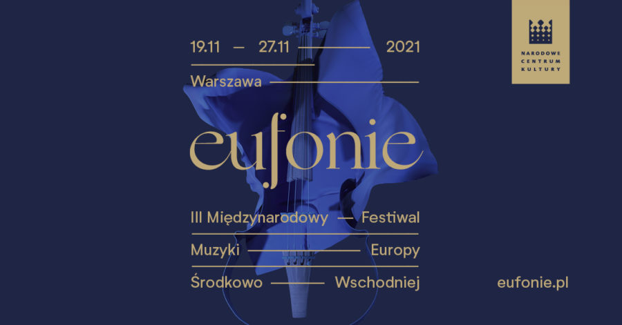 "Plakat festiwalu ""Eufonie""."